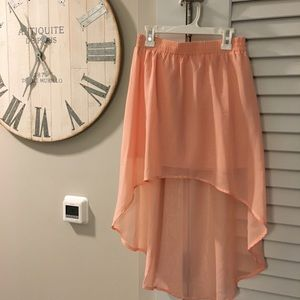 Pink high low skirt